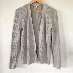 Talbots open cardigan with a hint of sparkle